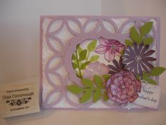 Mother's Day Card, made with Stampin Up Secret Garden stamp set and Lattice Bigz Die.