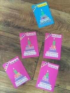 Einladungskarten Kindergeburtstag mit Washitape Invitation cards children's birthday with washitape Birthday Invitations Kids, Fun Wedding Invitations, Funny Birthday Cards, Diy Invitations, Invitation Cards, Ri Happy, Birthday Design, Baby Birthday, Washi Tape