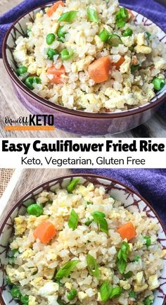 Try this quick, easy and delicios Keto Cauliflower Fried Rice Recipe as a keto side dish or keto main course. This keto entree jazzes up your keto dinner staple to switch up the taste of your usual cauliflower rice. Add in your favourite ingredients to kick it up a notch. #ketorecipes #ketodinner #cauliflower #ketodiet #ketogenic