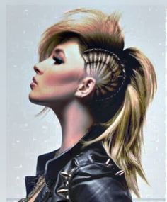 long punk hairstyles for women