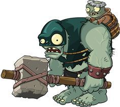 Dark Ages Gargantuar Plants Vs Zombies Plant Zombie Zombie Cartoon