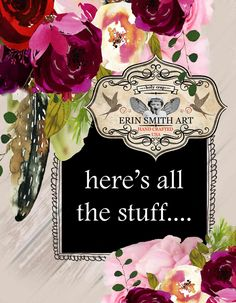 Erin Smith Art 2018 Erin Smith, Canvas Designs, Ceramic Mugs, Holi, Greeting Cards, Artwork, Artist, Crafts, Art Work
