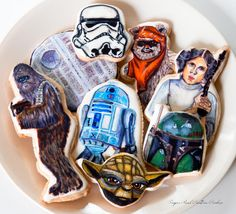 Star Wars themed cookies             http://www.facebook.com/Sugarrushcustomcookies