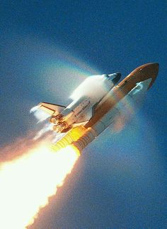 Shuttle breaking the sound barrier