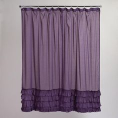 One of my favorite discoveries at WorldMarket.com: Olivia Ruffle Shower Curtain. I like it better than #Anthropologie.