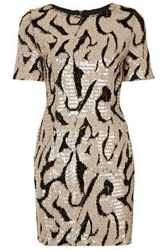 Sequin Tinsel T-Shirt Dress - Topshop