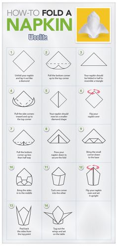 1000 images about folding napkins and towels on pinterest for 10 easy table napkin folding