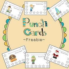 Seasonal Punch Cards ~Freebie~  Spice up your behavior management with these fun punch cards!  ~FREE~ #behavioralconcepts #behavior #emotionaldevelopment #kids #teens Repinned http://www.pinterest.com/behavioralconce/