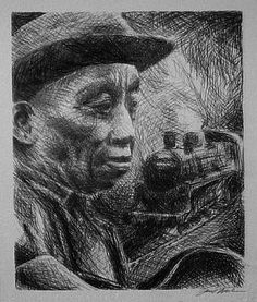 Mississippi John Hurt by Paul Wood on ARTwanted