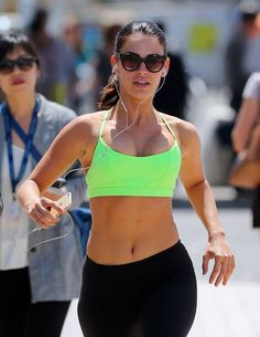 Jessica Lowndes Photo: Out for a run in France Jessica Lowndes, Bra, Running, Celebrities, Pictures, Brunettes, Beautiful, Fashion, Photos