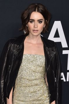 WHO: Lily Collins WHERE: Saint Laurent Fall 2016 show, Los Angeles WHEN: February 10, 2016