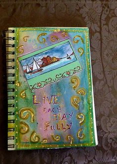 art journal mixed media collage Live Life fully  what I try to remember every day #PinYourResolution