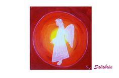 Engel Bilder / Spirituelle Bilder als Leinwandbilder. Engel / Sonnenuntergang in Acrylmalerei. Acrylbild Kunst in 30 x 30 cm http://de.dawanda.com/product/99488807-engelbild-sonnenuntergang