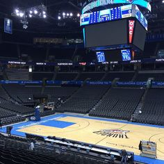 """Chesapeake Energy Arena prepares for Thunder's return home. Chesapeake Energy Arena, Fox Sports, Oklahoma City Thunder, Nhl, Basketball, Places, Instagram Posts, Travel, Life"
