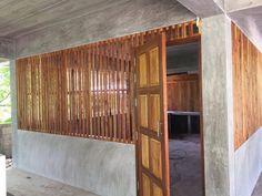 Dirty Kitchen Design, Outdoor Kitchen Design, Bamboo House Design, Tropical Kitchen, Village House Design, Thai House, Rest House, House Paint Exterior, House Stairs
