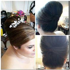Bridal hair smooth roll Www.traceyannahair.co.uk
