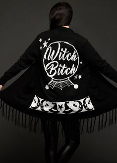 Cast a spell over the masses with your fierce fashion wearing the WITCH BITCH cardigan by Too Fast Clothing. You are going to fall in love with this gothic cardigan the moment you put it on! Shop now! Fashion Mumblr, Witch Fashion, Gothic Fashion, Alternative Outfits, Alternative Fashion, Aesthetic Fashion, Aesthetic Clothes, Witchy Outfit, Witchy Dress