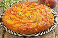 """Невероятно вкусный, сочный, рассыпчатый пирог с ненавязчивым ароматом розмарина, кусочками персиков и карамельно-сливочно-персиковой верхней """"шапочкой"""". Пекла в том году, влюбилась в него сразу, но почему-то, показать рецепт руки не дошли. Сейчас пошёл сезон персиков, купила вчера их и…"""