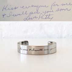 Custom Handwriting Cuff with the Writing or Art of your Little One or Loved One