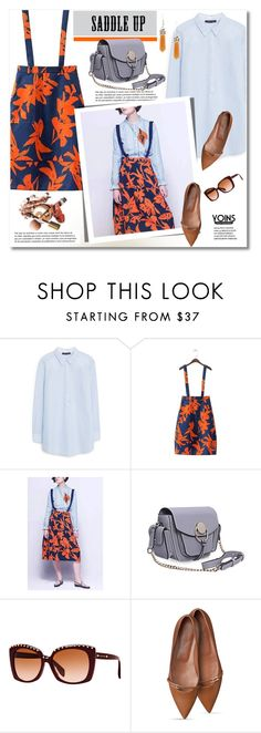 """""""Saddle Up!"""" by svijetlana ❤ liked on Polyvore featuring MANGO, Alexander McQueen, women's clothing, women, female, woman, misses, juniors, polyvoreeditorial and saddleup"""
