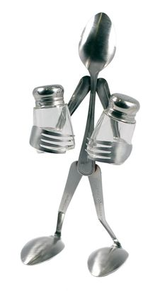 Fork Salt and Pepper Shakers Holder
