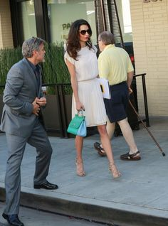 Pin for Later: George Can't Take His Eyes Off Amal —and It's All Because of Her Outfit