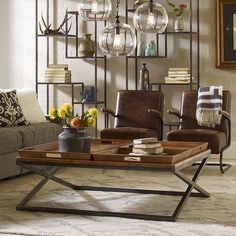 Rustica X-base coffee table http://fancy.com/DenverRealEstateFirm