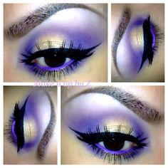 Light purple eye makeup for wedding