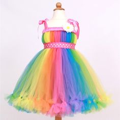 49.90$ Buy now - http://alizca.worldwells.pw/go.php?t=32512801253 - Rainbow Tutu Baby Girl Birthday Cute Toddler Dresses Infant Ball Gown Princess Girls Dress 2015 Vestido Infantil Menina Festa 49.90$