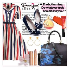 """""""Rosegal striped dress"""" by newoutfit ❤ liked on Polyvore"""