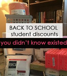 Back to School Discounts You Didn't Know Existed Back to school student discounts you didn College Dorm Essentials, College Checklist, College Planning, Girl College Dorms, College Life Hacks, College Football, School Hacks, College Success, School Routines