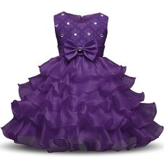 dd0d031e744 Girls Sleeveless Princess Dress Wedding Flower Girl Easter Holiday Party