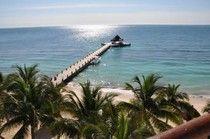 Yoga pier in Puerto Morelos, Mexico