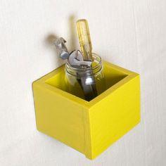 1001 Ways - Wall Storage Boxes - Set of 3 - Modern Mustard.
