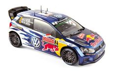 Volkswagen Polo R WRC 2015 - Monte Carlo - N2 Latvala / Anttila - Racing cars - Die-cast | Hobbyland Scale model car made of metal /Die-cast/ in 1:18 scale manufactured by Norev.  It is just a small version of a real car suitable for collectors.  Handmade.  Composition: metal and plastic