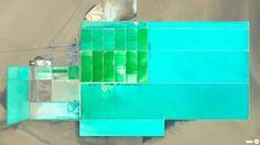 4/22/2014—Lop Nur Potash Solar Ponds. Taklimakan Desert, China. 40.445902, 90.833588