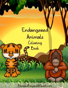 Free Endangered Animals Coloring Book that teaches about these awesome animals. It's super cute!