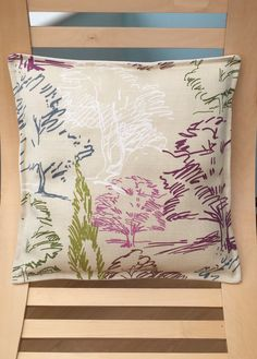 Tree print cushion cover, home decor, pillow, Designer fabric, Sanderson Aspen Printed Cushions, Tree Print, Cushion Fabric, Beautiful Gifts, Aspen, Fabric Design, Decorative Pillows, Handmade Items, Throw Pillows