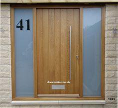 oak door sidelights