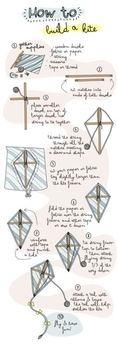 How to build a kite - I used to do this as a child... ;)