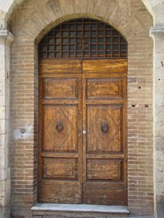 Italian Door, Downloadable Photos, Wooden Door, Arched Doorway, Arched Brick, #Florence #Italy