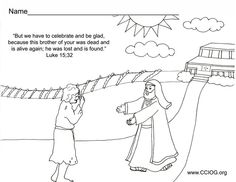 the return of the prodigal son | the prodigal son | pinterest ... - Bible Coloring Pages Prodigal Son