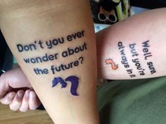 We finally got our his-and-hers tattoo! Thanks to Kelly at Mecca Tattoo in Mankato :) #futurama #smizmars
