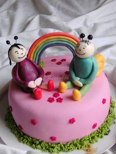 Kiskukta torta: Bogyó és babóca Birthday Cake, Cakes, Children, Desserts, Food, Pastries, Kids, Tailgate Desserts, Birthday Cakes