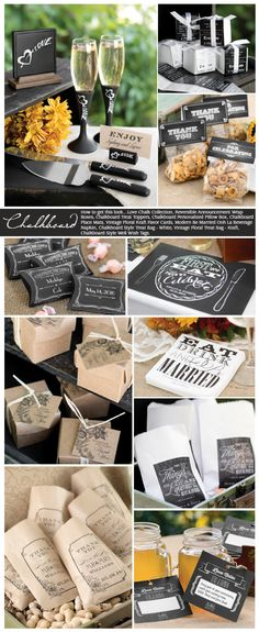 Chalkboard Inspiration - Perfect for a rustic or vintage wedding theme!