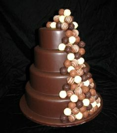 What could be better than a cake decorated with truffles?!  Amen.