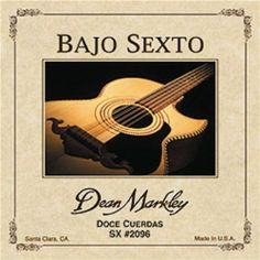 """Dean Markley 2096 Dm Bajo Sexto Docecuerdas12Str by Dean Markley. $13.99. In order to create a Bajo Sexto string that would carry the Bajo along, Dean Markley incorporated their finest 80/20 """"true brass"""" outer wrap alloy with their finest Swedish steel, hex-tinned, mandolin wire. They also incorporate proprietary """"pitch wind"""" while winding the outer wrap onto the special core wires. This means the cores are brought to their concert pitch in the winding process. Then the out..."""