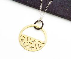 Minimalist + geometric, Eclipse necklace by Camillette Jewelry