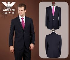 Armani One Button Suit Black 15