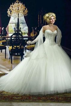 New Tulle Bride Wedding Dress Bridal #wedding #dress www.loveitsomuch.com